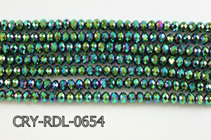 Angelic Crystal Faceted Rondel 6mm 10'' CRY-RDL-0654