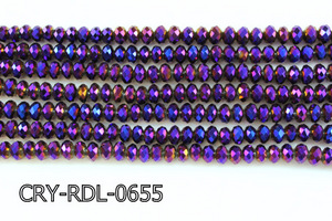 Angelic Crystal Faceted Rondel 6mm 10'' CRY-RDL-0655