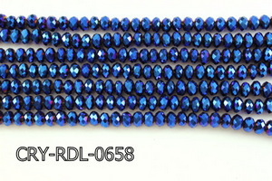 Angelic Crystal Faceted Rondel 6mm 10'' CRY-RDL-0658