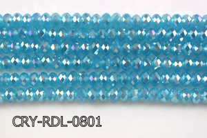 Angelic Crystal Faceted Rondel 8mm 10'' CRY-RDL-0801