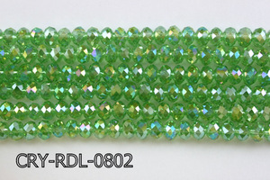 Angelic Crystal Faceted Rondel 8mm 10'' CRY-RDL-0802
