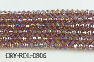 Angelic Crystal Faceted Rondel 8mm 10'' CRY-RDL-0806