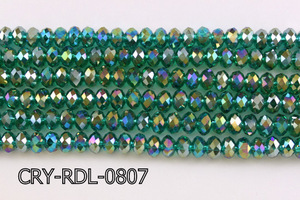 Angelic Crystal Faceted Rondel 8mm 10'' CRY-RDL-0807