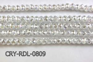 Angelic Crystal Faceted Rondel 8mm 10'' CRY-RDL-0809