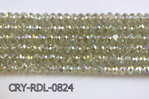 Angelic Crystal Faceted Rondel 8mm 10'' CRY-RDL-0824