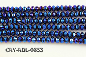 Angelic Crystal Faceted Rondel 8mm 10'' CRY-RDL-0853