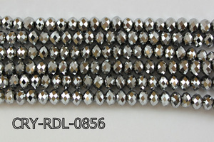 Angelic Crystal Faceted Rondel 8mm 10'' CRY-RDL-0856