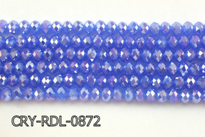 Angelic Crystal Faceted Rondel 8mm 10'' CRY-RDL-0872