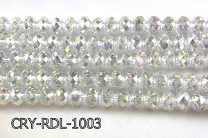 Angelic Crystal Faceted Rondel 10mm 10'' CRY-RDL-1003