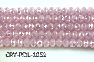 Angelic Crystal Faceted Rondel 10mm 10'' CRY-RDL-1059