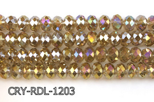 Angelic Crystal Faceted Rondel 12mm 10'' CRY-RDL-1203