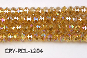 Angelic Crystal Faceted Rondel 12mm 10'' CRY-RDL-1204