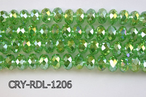 Angelic Crystal Faceted Rondel 12mm 10'' CRY-RDL-1206