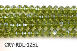 Angelic Crystal Faceted Rondel 12mm 10'' CRY-RDL-1231