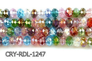 Angelic Crystal Faceted Rondel 12mm 10'' CRY-RDL-1247