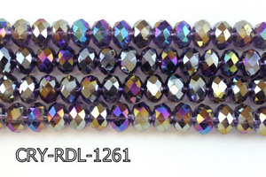 Angelic Crystal Faceted Rondel 12mm 10'' CRY-RDL-1261