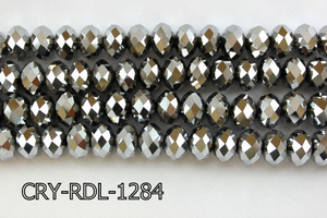 Angelic Crystal Faceted Rondel 12mm 14'' CRY-RDL-1284