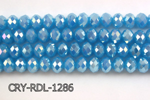 Angelic Crystal Faceted Rondel 12mm 10'' CRY-RDL-1286