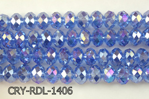 Angelic Crystal Faceted Rondel 14mm  CRY-RDL-1406