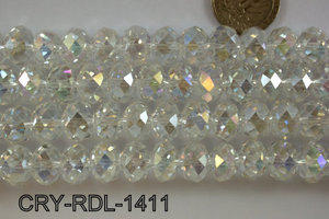 Angelic Crystal Faceted Rondel 14mm 14'' CRY-RDL-1411