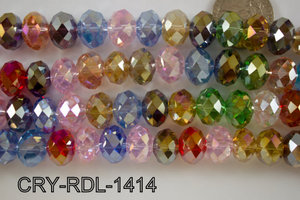 Angelic Crystal Faceted Rondel 14mm CRY-RDL-1414