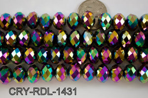 Angelic Crystal Faceted Rondel 14mm  CRY-RDL-1431