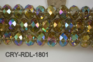 Angelic Crystal Faceted Rondel 18mm  CRY-RDL-1801