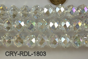 Angelic Crystal Faceted Rondel 18mm 14'' CRY-RDL-1803