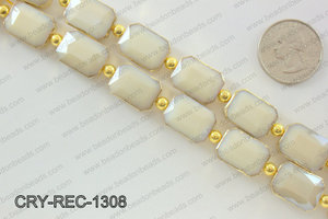 Rectangle cream crystal with Gold bezel 13x18mmCRY-REC-1308