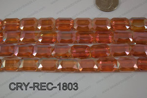 Angelic Crystal Rectangle Faceted 13x18mm CRY-REC-1803