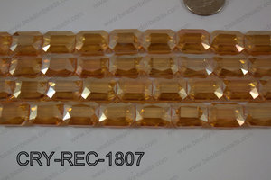 Angelic Crystal Rectangle Faceted 13x18mm CRY-REC-1807