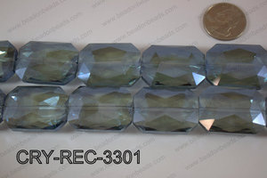 Angelic Crystal Rectangle Faceted 24x33mm CRY-REC-3301