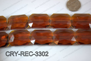 Angelic Crystal Rectangle Faceted 24x33mm CRY-REC-3302