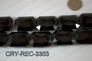 Angelic Crystal Rectangle Faceted 24x33mm CRY-REC-3303