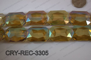 Angelic Crystal Rectangle Faceted 24x33mm CRY-REC-3305