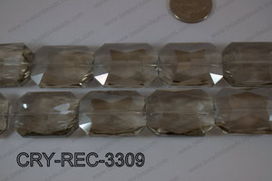 Angelic Crystal Rectangle Faceted 24x33mm CRY-REC-3309