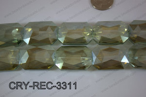 Angelic Crystal Rectangle Faceted 24x33mm CRY-REC-3311