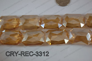 Angelic Crystal Rectangle Faceted 24x33mm CRY-REC-3312