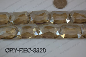 Angelic Crystal Rectangle Faceted 24x33mm CRY-REC-3320