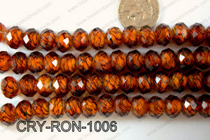 Lampwork Rondel 12mm CRY-RON-1006