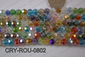 Angelic Crystal Round Faceted 8mm CRY-ROU-0802