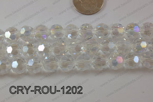Angelic Crystal Round Faceted 32cut 12mm CRY-ROU-1202