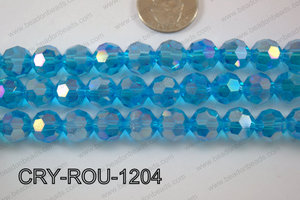 Angelic Crystal Round Faceted 32cut 12mm CRY-ROU-1204