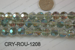 Angelic Crystal Round Faceted 32cut 12mm CRY-ROU-1208