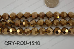 Angelic Crystal Round Faceted 32cut 12mm CRY-ROU-1216