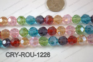 Angelic Crystal Round Faceted 32cut 12mm CRY-ROU-1226