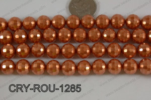 Crystal Round 96 Cut with Pearl Coating Orange 12mm CRY-ROU-1285