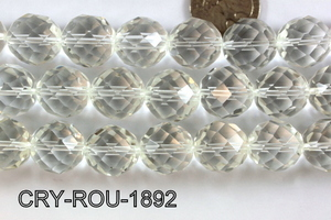 Angelic Crystal Faceted Round 18mm 48Cut Clear 14'' CRY-ROU-1892