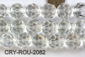 Angelic Crystal Faceted Round 20mm 32Cut Clear 14'' CRY-ROU-2082