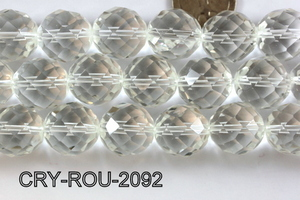 Angelic Crystal Faceted Round 20mm 48Cut Clear 14'' CRY-ROU-2092